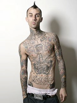Travis Barker Blink 182 +44
