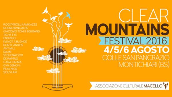 Clear Mountains Festival 2016 La Terza Edizione Dal 4 Al