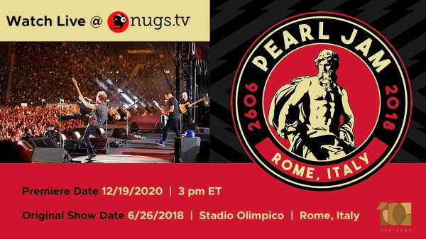 Pearl Jam Roma 2018 - Nugs.net streaming poster