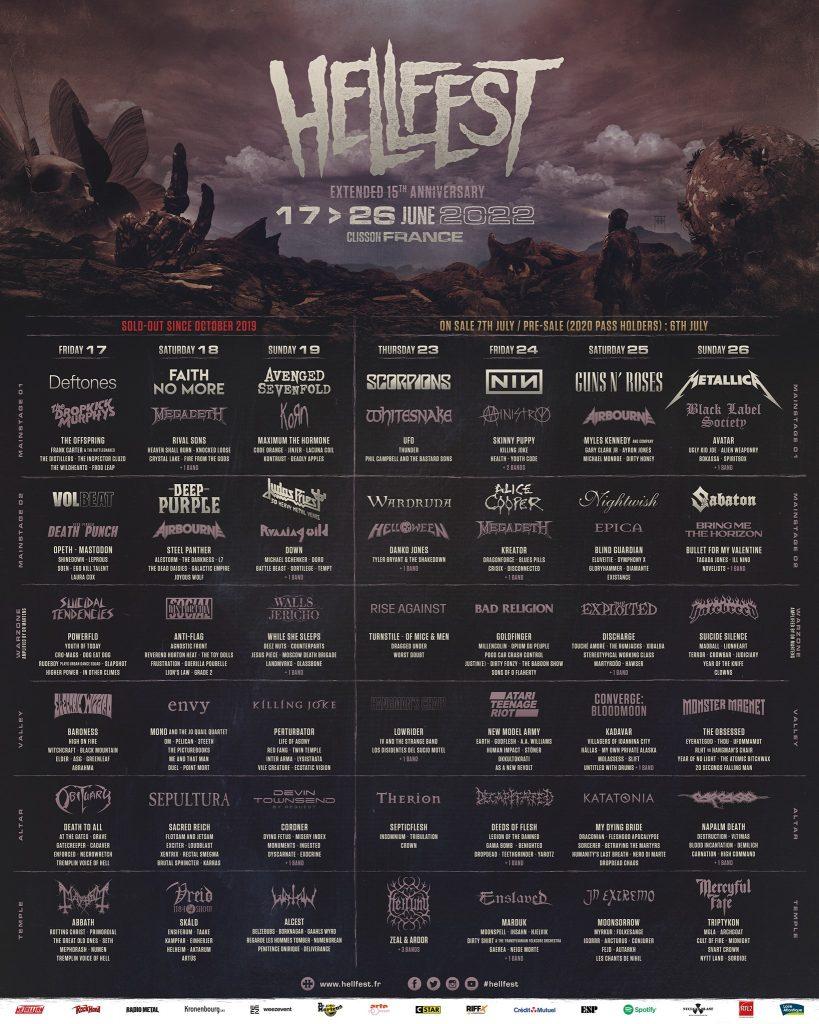 HellFest 2022 line-up image